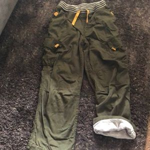 Hanna Andersson boys jersey lined cargos